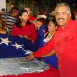 José Ramón Rivero en la colocación de la octava estrella