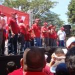 Los candidatos psuvistas le pidieron a los trabajadores su voto de confianza en las próximas elecciones parlamentarias del 26-s. (Foto: Carlos Herrera)