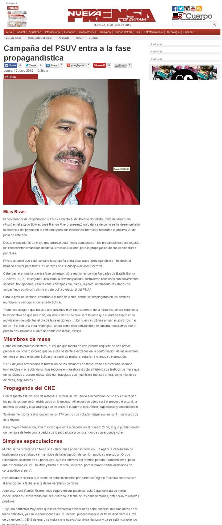 JRRivero_campaña psuv entra en la fase propagandistica _nueva prensa