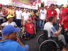 La fuerza revolucionaria de Guayana marchando